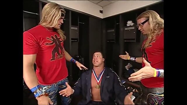 Team ECK backstage (Raw 26.03.2001)