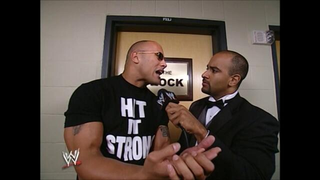 The Rock backstage (WrestleMania XIX)