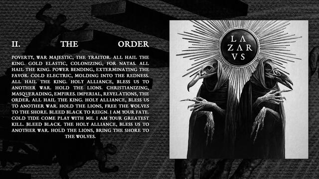 LAZARVS - THE ORDER (Official Audio)