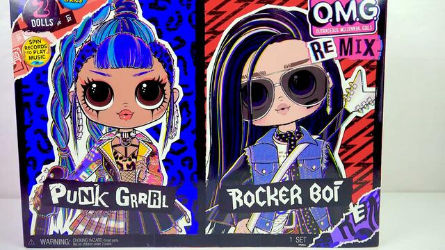 NEW OMG Rocker Boi Boy OMG Remix Fashion Doll Cookie Swirl C Haul Video