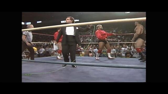 AWA: Arn Anderson and Tully Blanchard vs Nikita Koloff and Sting (NWA World Tag Team Championship)