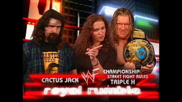Triple H vs Cactus Jack (Street Fight for the WWF Championship) 1/2