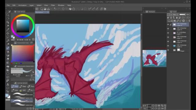 y2mate.com - SWOOP  Dragon Speedpaint_1080p